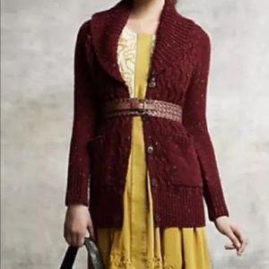 Anthro Isabella Sinclair Farfar Knit Cardigan